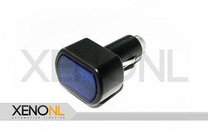 Digitaal voltmeter sigarettenaansteker