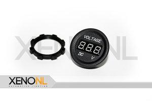 Mini digitaal voltmeter rond